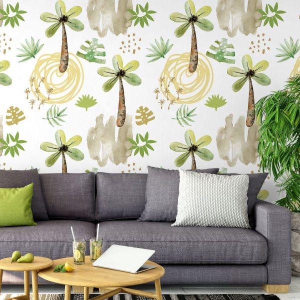 tapeta watercolor palms