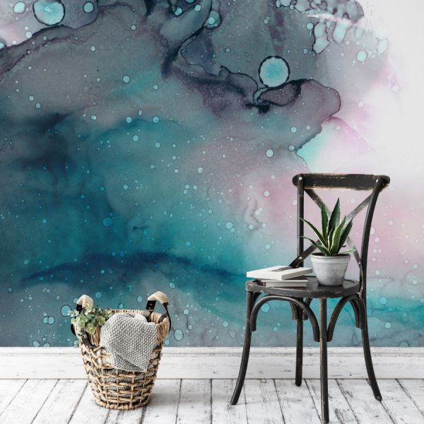 tapeta watercolor turquoise