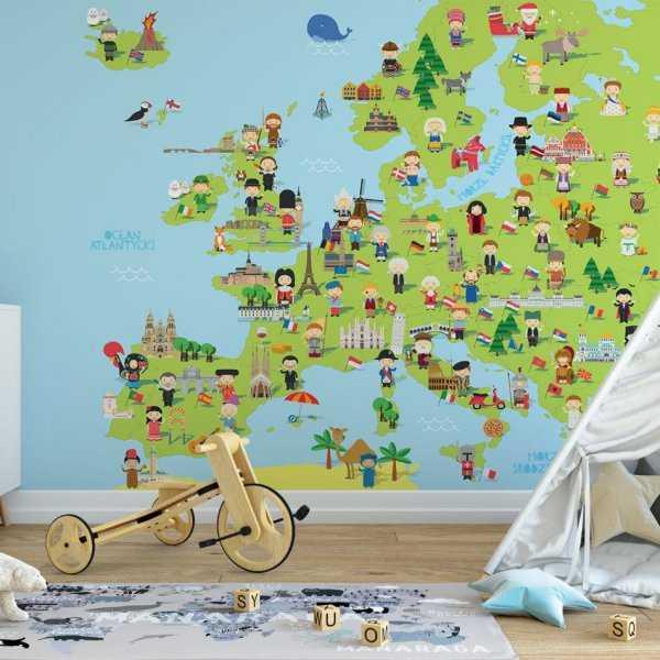 tapeta mapa europy