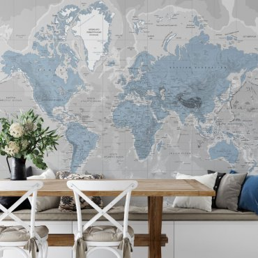 Tapeta Blue World map