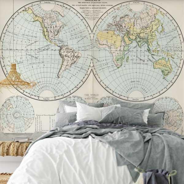 tapeta retro globe
