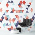 POWERFUL ART - Tapeta na ścianę w trójkąty