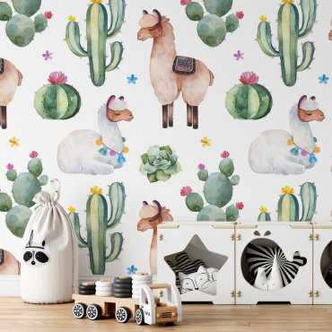 tapeta cacti alpaka