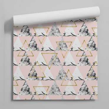 tapeta pastel marble pink