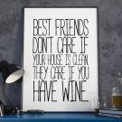 BEST FRIENDS - Modny plakat w ramie