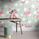 tapeta flamingo dots