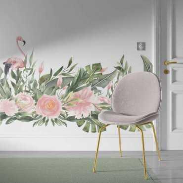 tapeta flamingo flora