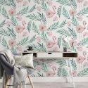 tapeta flamingo greenery