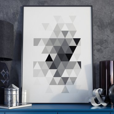 TRIANGLE DESIGN - Plakat w ramie
