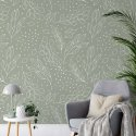 tapeta floral line art