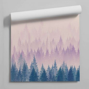 tapeta forest aurora