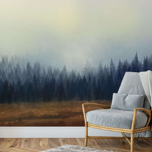 tapeta forest painting
