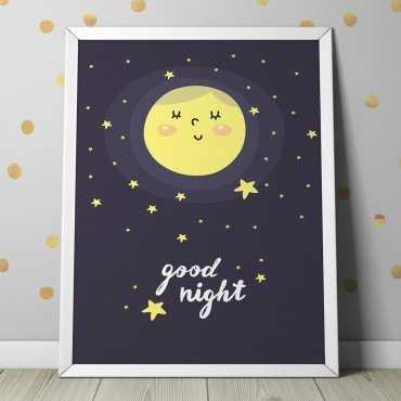 GOOD NIGHT - Plakat dla dzieci