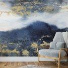 tapeta golden navy blue
