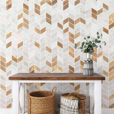 tapeta golden tiles