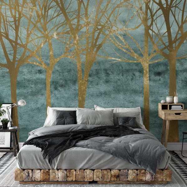 tapeta gold of woods