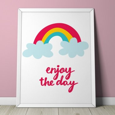 RAINBOW - Plakat dla dzieci