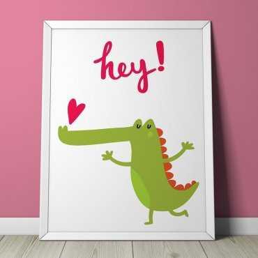 HEY CROCO - Plakat dla dzieci