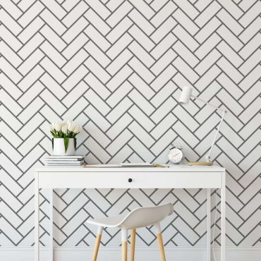 tapeta herringbone tiles
