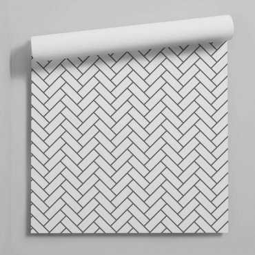 tapeta herringbone tiles
