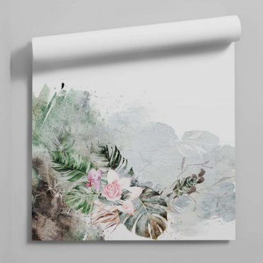 tapeta jungle bouquet