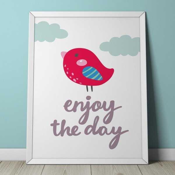 ENJOY THE DAY - Plakat dla dzieci