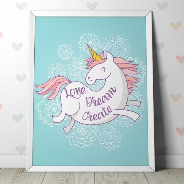 LOVE DREAM CREATE - Plakat dla dzieci