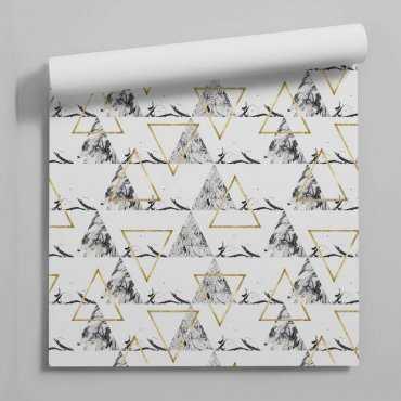 tapeta marble golden triangle
