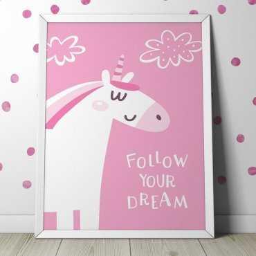 FOLLOW YOUR DREAM - Plakat dla dzieci