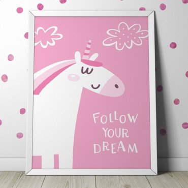FOLLOW YOUR DREAM - Plakat dla dzieci