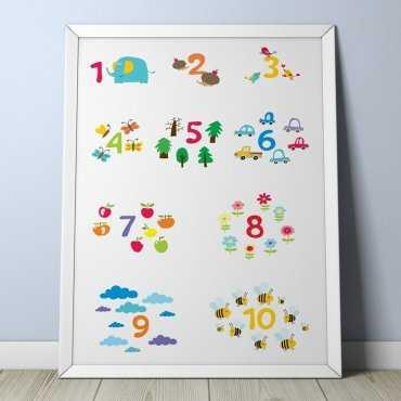 NAUKA LICZENIA - Plakat dla dzieci