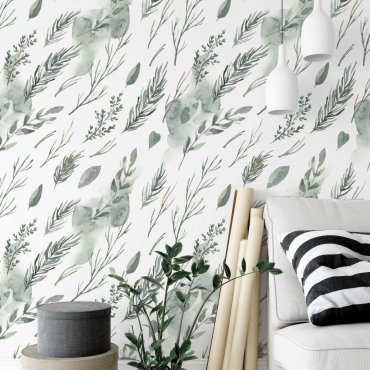 tapeta minimal greenery