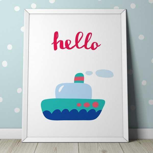 HELLO - Plakat dla dzieci
