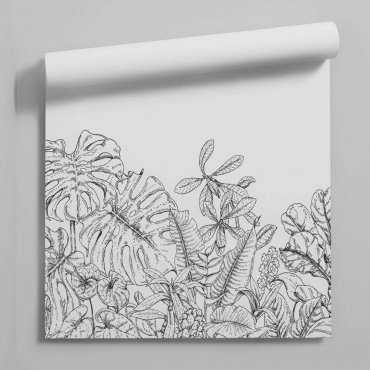 tapeta monochrome plants