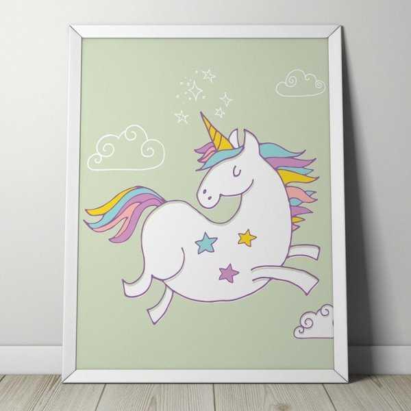 STARRY UNICORN - Plakat dla dzieci
