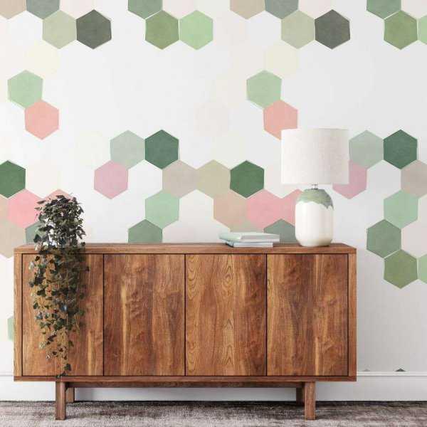 tapeta pastel hexagons