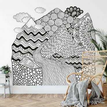 tapeta patchwork landscape