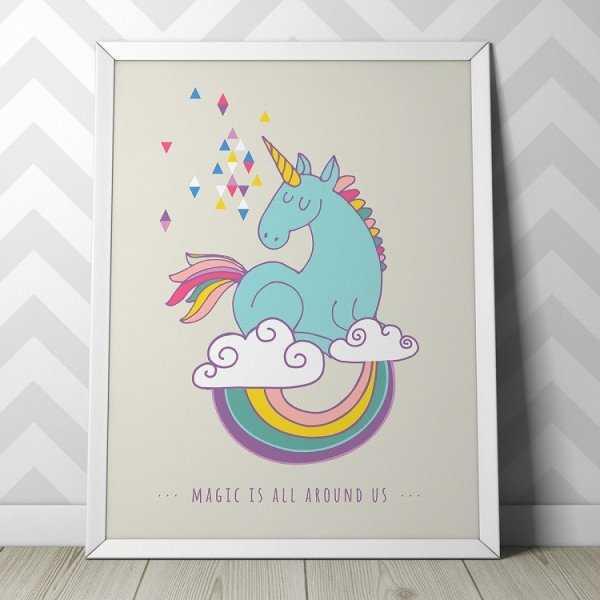 UNICORN DESIGN - Plakat dla dzieci