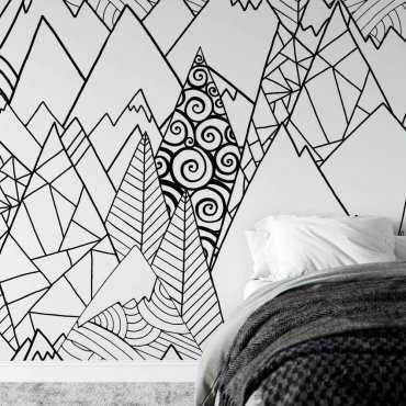 tapeta patterned mountains