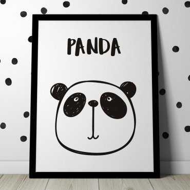 SCANDI PANDA - Plakat dla dzieci