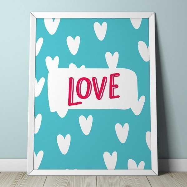 LOVE - Plakat dla dzieci