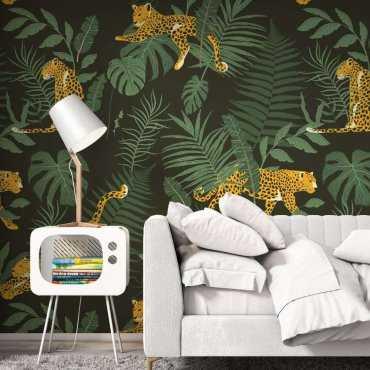 tapeta tropical cheetah
