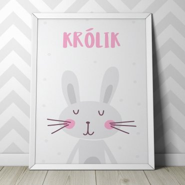 KRÓLIK - Plakat dla dzieci