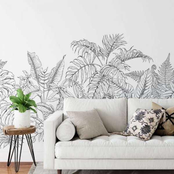 tapeta tropical plants