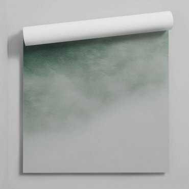 tapeta green cloud ombre