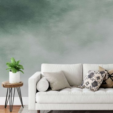tapeta green cloud ombre