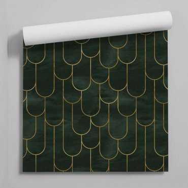 tapeta geometric bottle of green