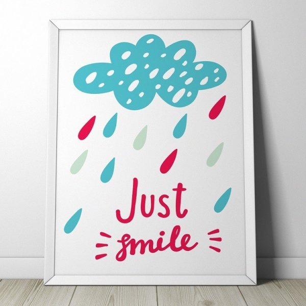 JUST SMILE - Plakat dla dzieci