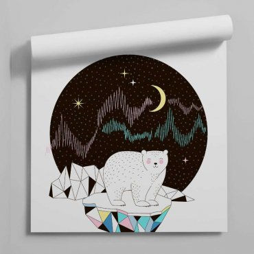 tapeta abstract polar bear