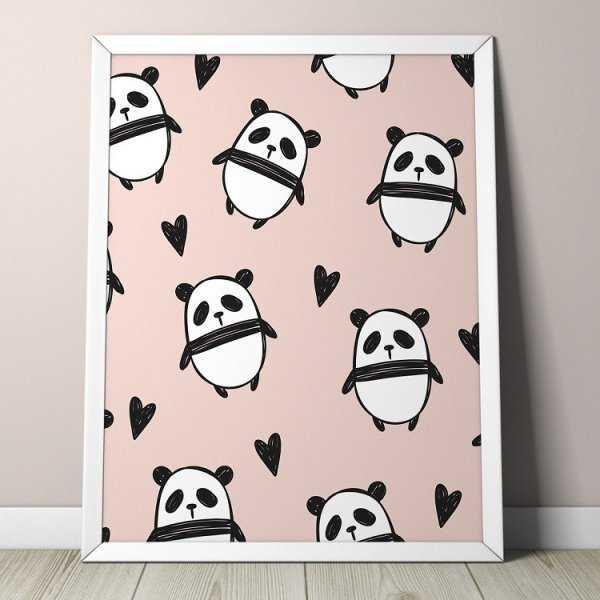 PANDA DESIGN - Plakat dla dzieci